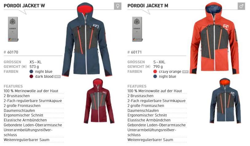 Ortovox – Softshelljacke.sale